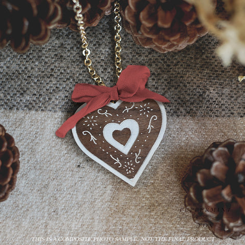 Gingerbread Biscuit Necklace