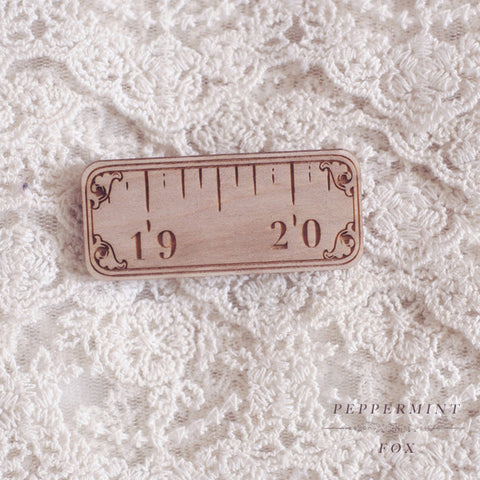 Vintage Measuring Tape Brooch