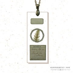 Microscope Slide Necklace (Green)