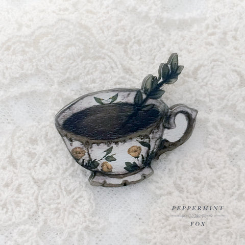 Witches' Tea Brooch