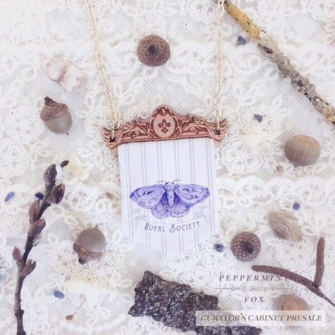 Moth Pennant Necklace