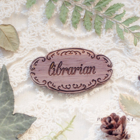 SALE Librarian Brooch