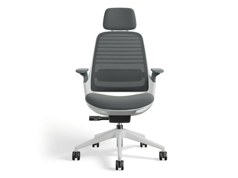 Steelcase Series 1 with Headrest Blue Box Office Furniture Chair