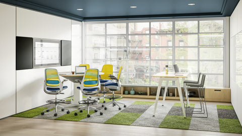 Steelcase Series 1 Stool Blue Box Office Furniture Chair