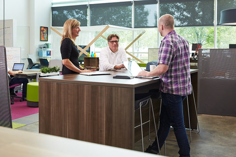 Steelcase Turnstone Campfire Big Table Blue Box Office Furniture