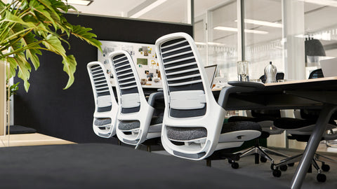Steelcase Series 1 Blue Box Office Furniture Chair Third Image