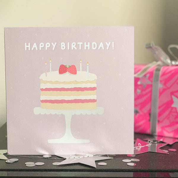 Happy Birthday Cake Card