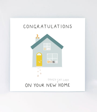 Congratulations On Your New Crazy Cat Lady Home