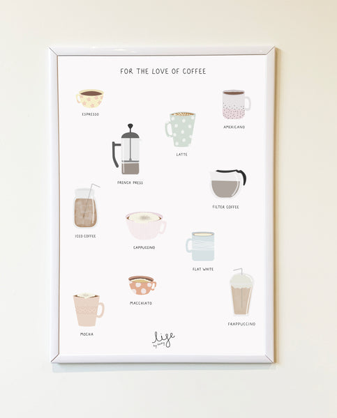 For The Love Of Coffee Print