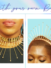 Queen Necklace / Crown - DIBA by Dibawssette dark skin woc women of color makeup skincare