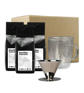 V60 Giftset (V60, Super Cup & 3x Blends of Coffee)
