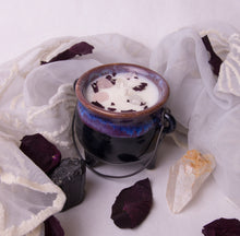 Load image into Gallery viewer, 8 oz. Purple Cauldron Candle - Oakmoss, Amber, Rosemary and Sage