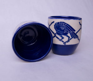 8 oz. Set of 2 Raven Cups