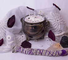 Load image into Gallery viewer, 8 oz. Silver Alter Candle - Oakmoss, Amber, Rosemary and Sage