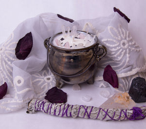 8 oz. Silver Alter Candle - Oakmoss, Amber, Rosemary and Sage