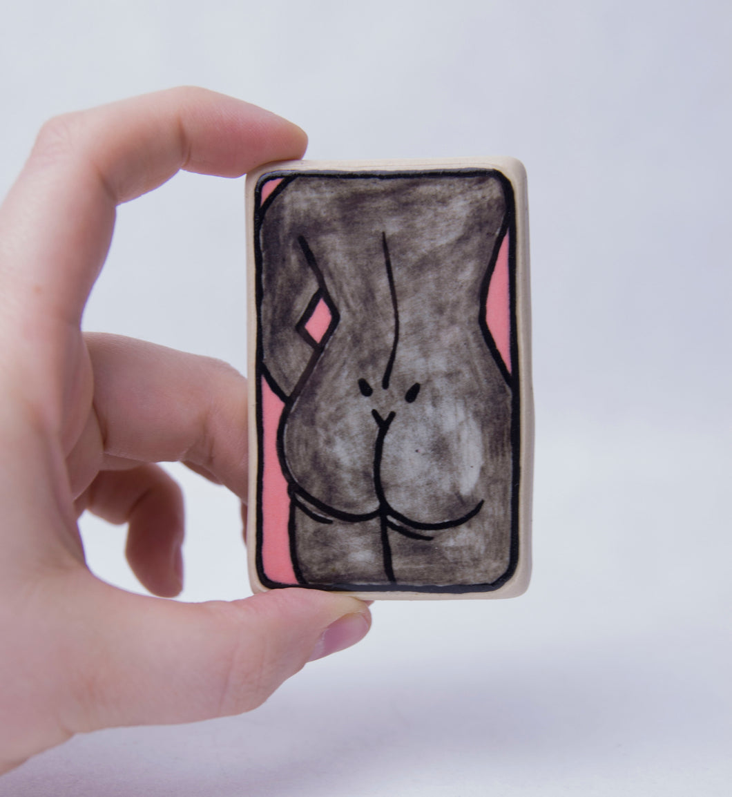 Sketchy Booty Ceramic Magnet