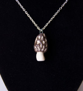 Ceramic Morel Necklace