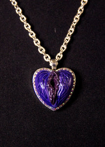 NSFW Purple Crystal Pussy Pendant Necklace
