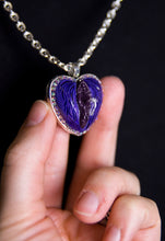 Load image into Gallery viewer, NSFW Purple Crystal Pussy Pendant Necklace