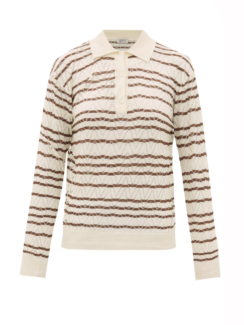 Sweater ecru brown
