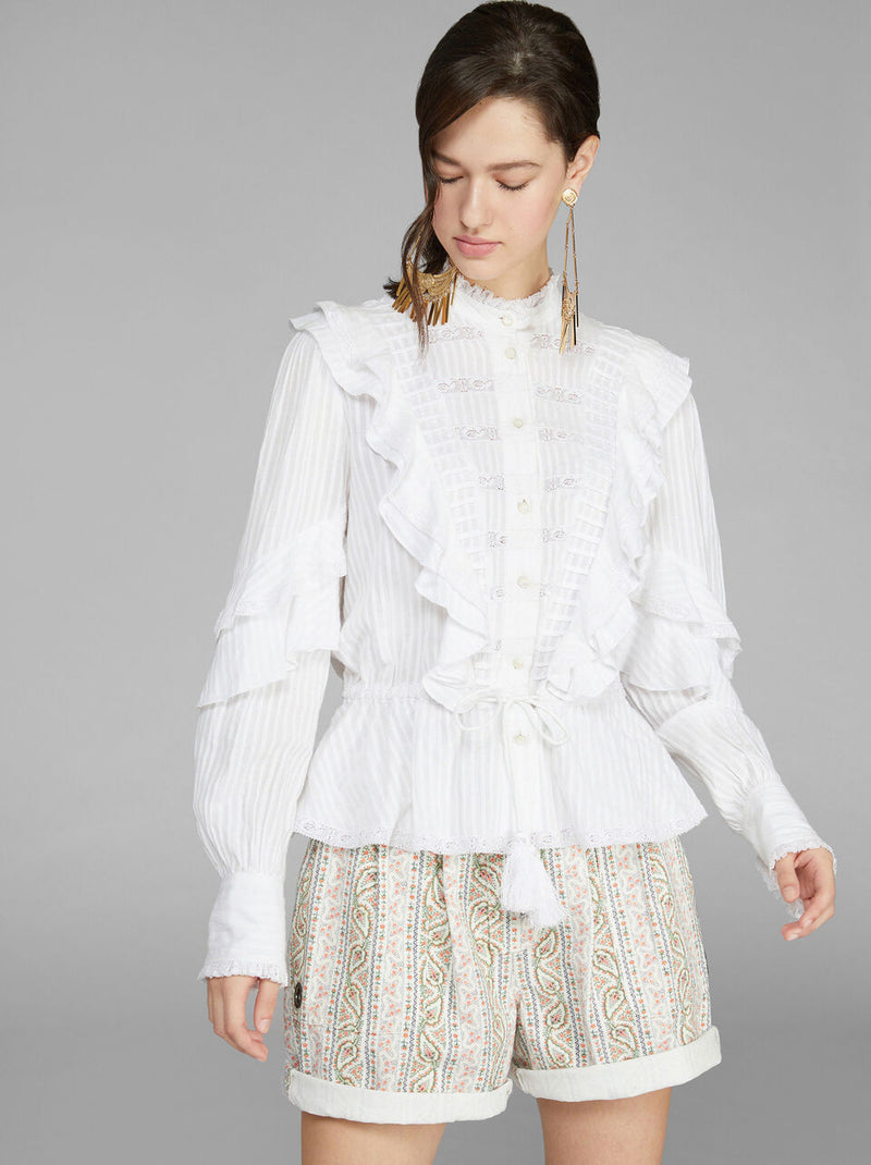 Voile Blouse Frills