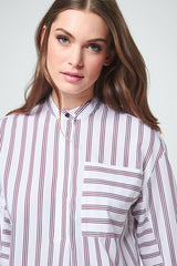 Blouse bordeaux white