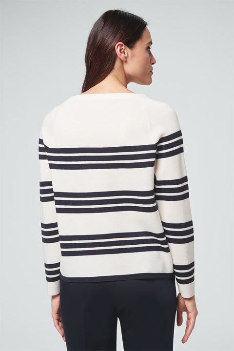 Sweater weiss navy