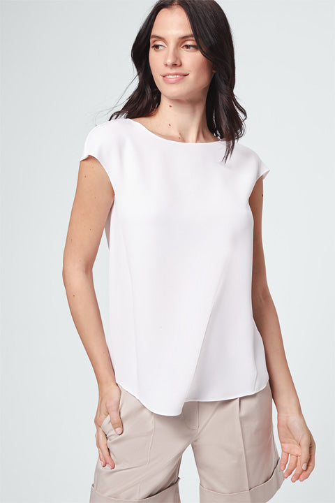 Blouse open white
