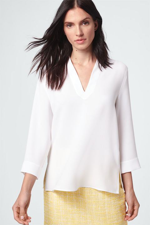 V-Neck Blouse white