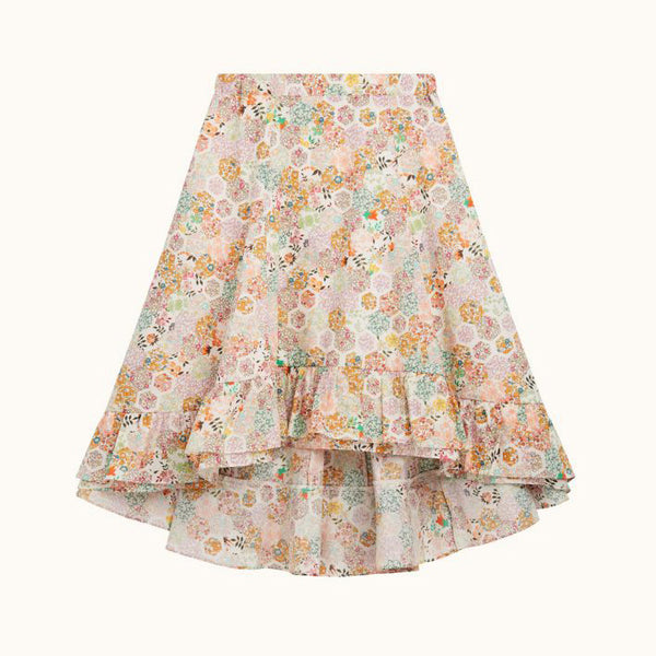 Floral Skirt - Shorter in the front longer in the back