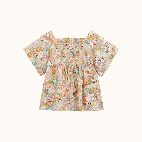 Blouse short Sleeved with floral print