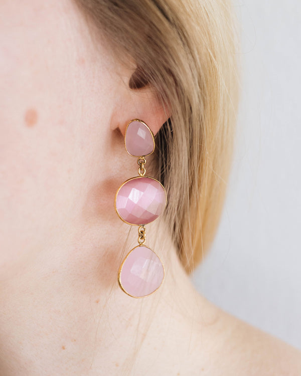 Rose Quarz Earrings