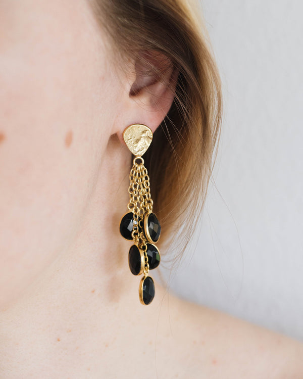 Black Drops Earrings