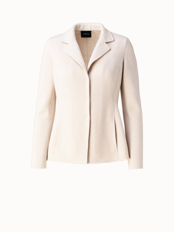 Cashmere Jacket with Lapel Collar