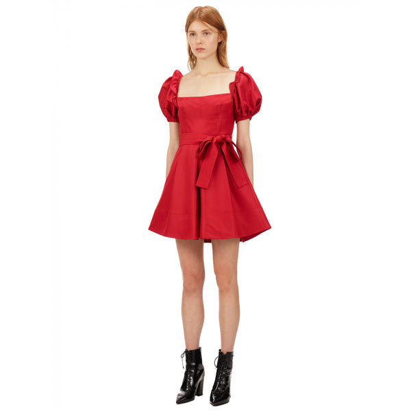 Red Taffeta Mini Dress