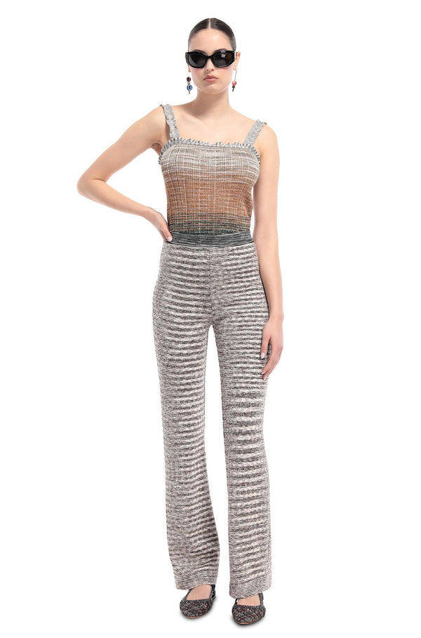 Stripe Pattern Knit Pants