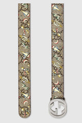 Children's GG space print belt