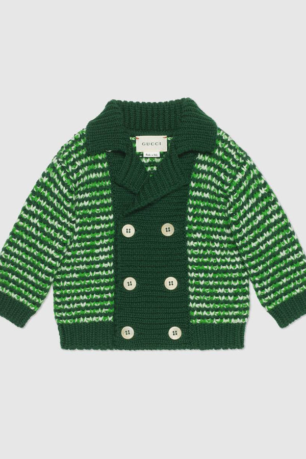 Baby wool mouline cardigan
