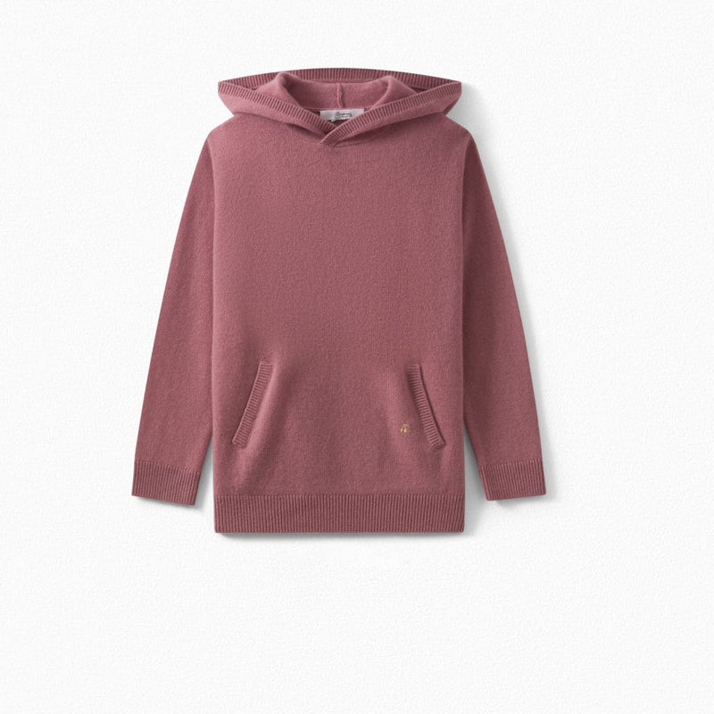 Girls Hooded Cashmere Sweater