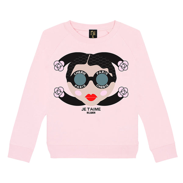 Logo Sweater in Pink