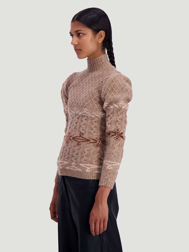 Ebo Hanger Knit Beige Mix
