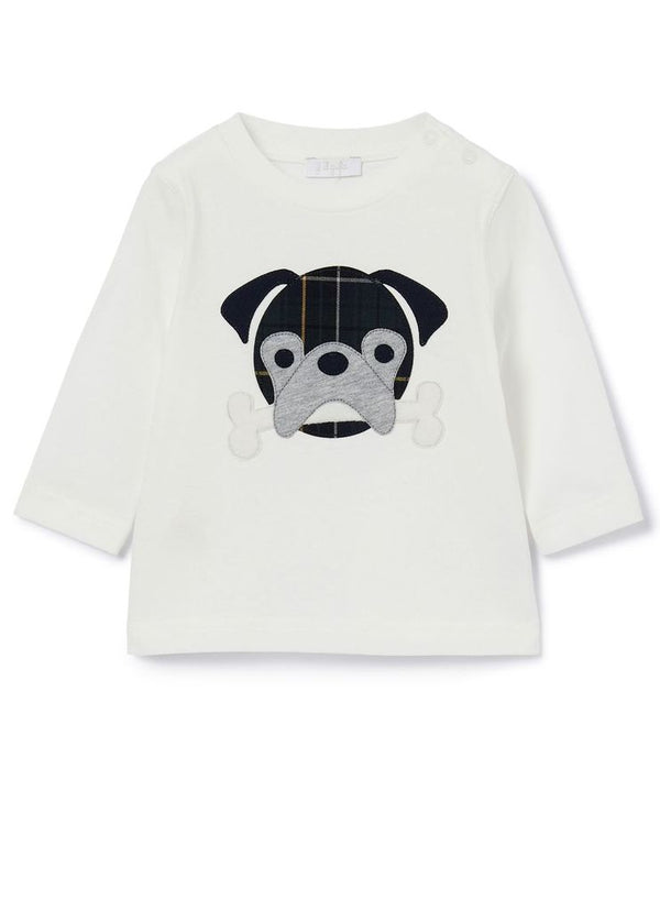 T-Shirt Long Sleeve Dog with Bone