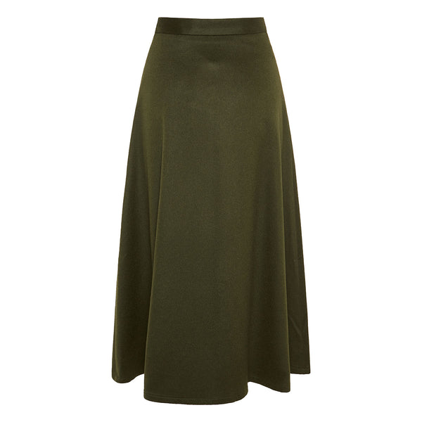 THE ADA CAMEL HAIR MIDI SKIRT