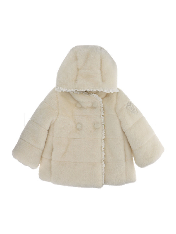 Soft Faux Fur Puffer Jacket