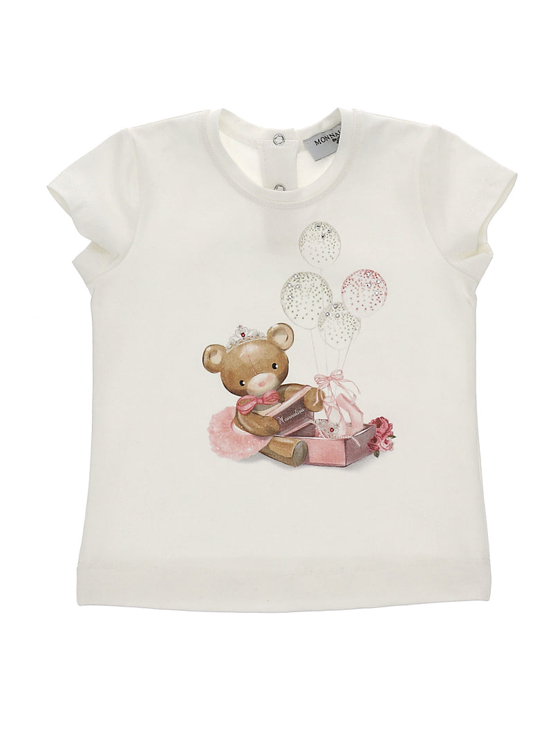 Jersey T-Shirt with Teddy Print