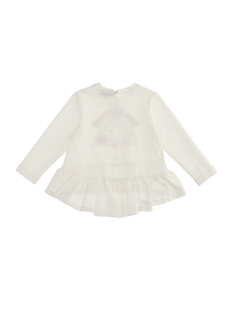 Jersey T-Shirt with Frill
