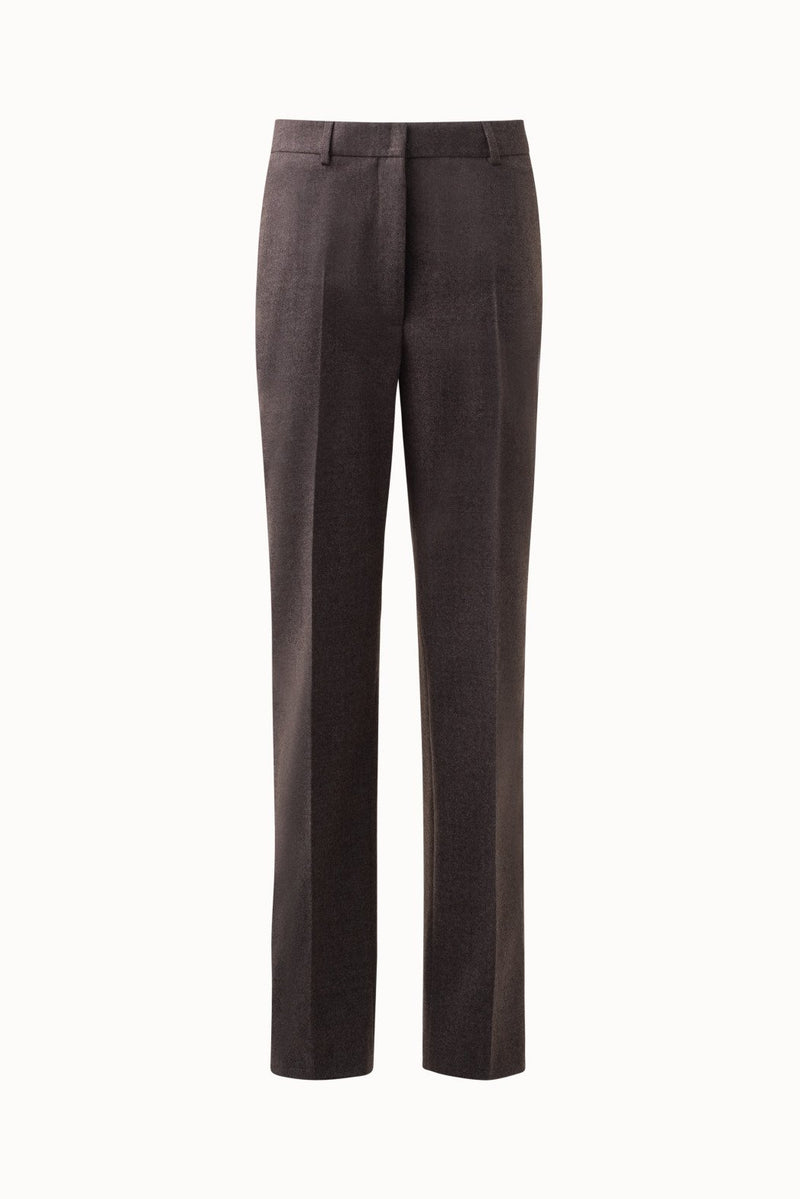 Straight Leg Flannel Wool Pants