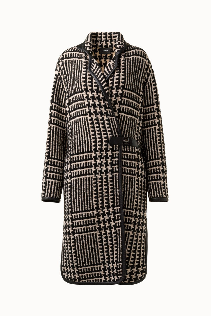 Wool Blend Plaid Coat