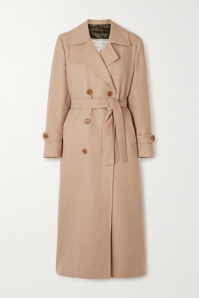 The Christie belted double-breasted wool-gabardine trench coat
