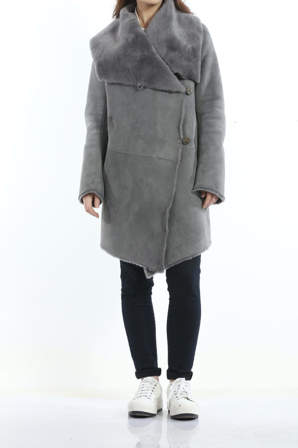 Sherling Coat dove grey